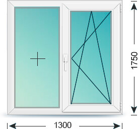 Двустворчатое окно в сталинку