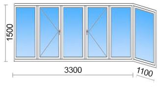 Остекление балкона в домах 121 серии