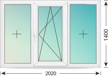 Трехстворчатое окно (брежневка)