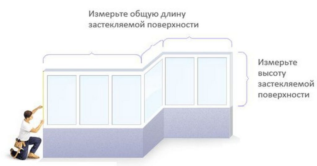 Замер балкона и лоджии