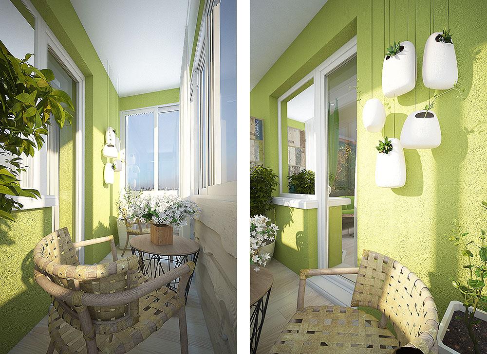 Идеи дизайна балкона в хрущевке