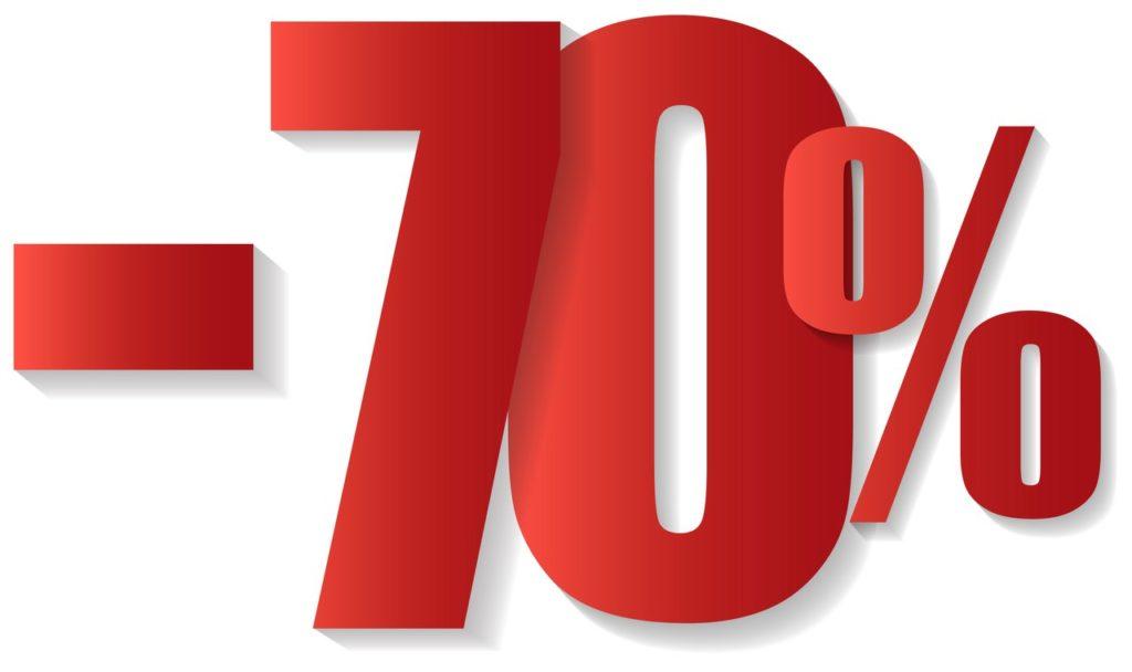 Скидка 70 процентов